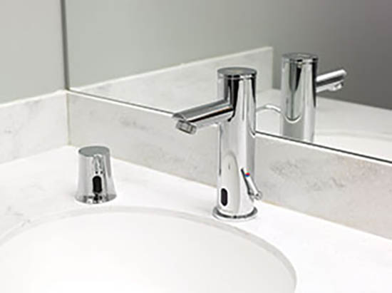 ADA-compliant, hands-free sensor faucet from T&S Brass