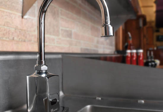 Improve restaurant safety, efficiency with hands-free sensor faucets