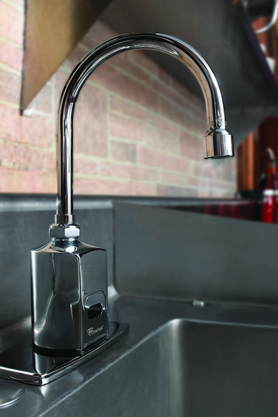 Reduce the spread of germs with hands-free faucets