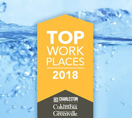 T&S Brass was named a South Carolina Top Workplace for 2018