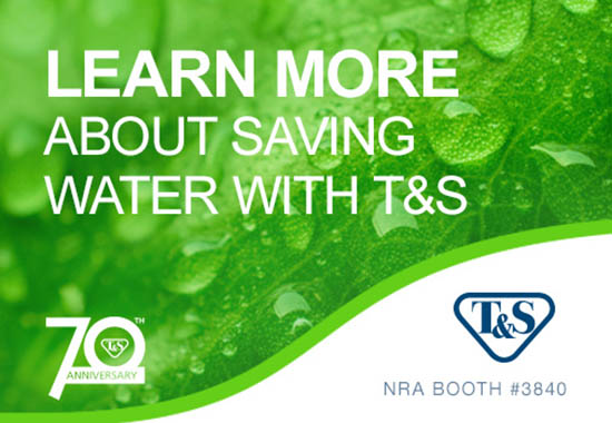 Visit T&S at NRA for the latest in new products to improve your kitchen