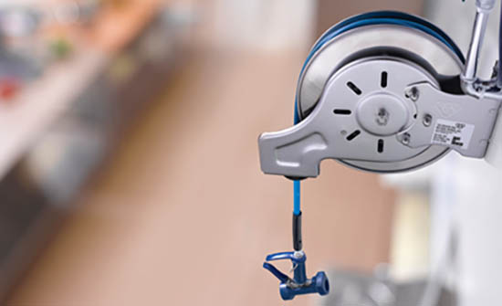 FCSI: Improve cleaning, streamline operations with T&S Brass hose reel systems