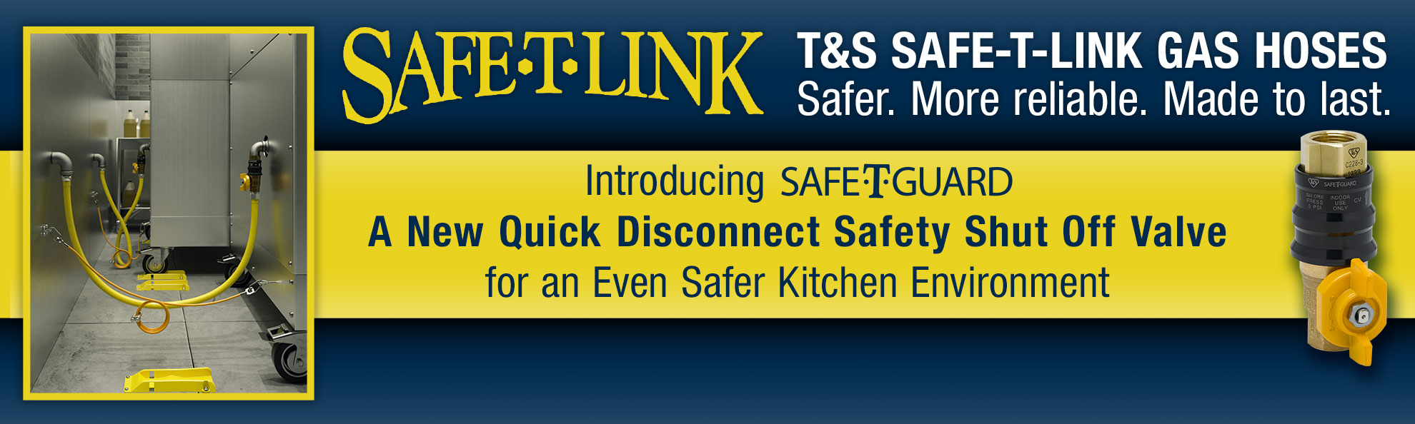 T&S Brass SAFE-T-LINK Gas Hoses