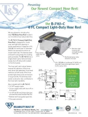 B-7161-C Compact Light-Duty Hose Reel Flyer