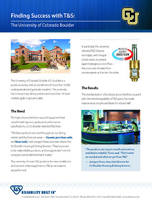 T&S Case Study: University of Colorado (Boulder)