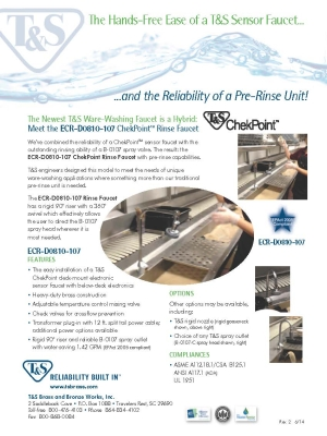 ChekPoint Rinse Faucet Flyer