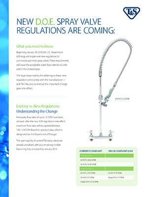 New DOE Spray Valve Regulations Flyer