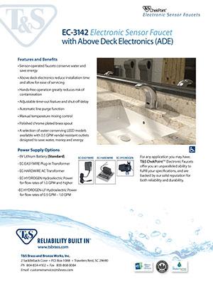 ChekPoint EC-3142 Electronic Sensor Faucet Sales Flyer