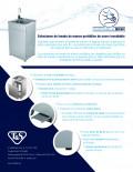 Spanish Stainless Steel Portable Handwashing Stations Flyer