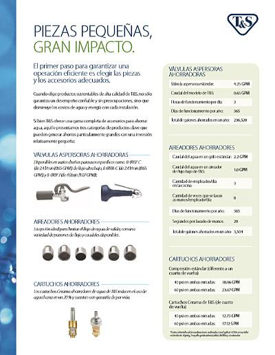 Foodservice Sustainability Flyer (Spanish) - Piezas Pequeñas, Gran Impacto