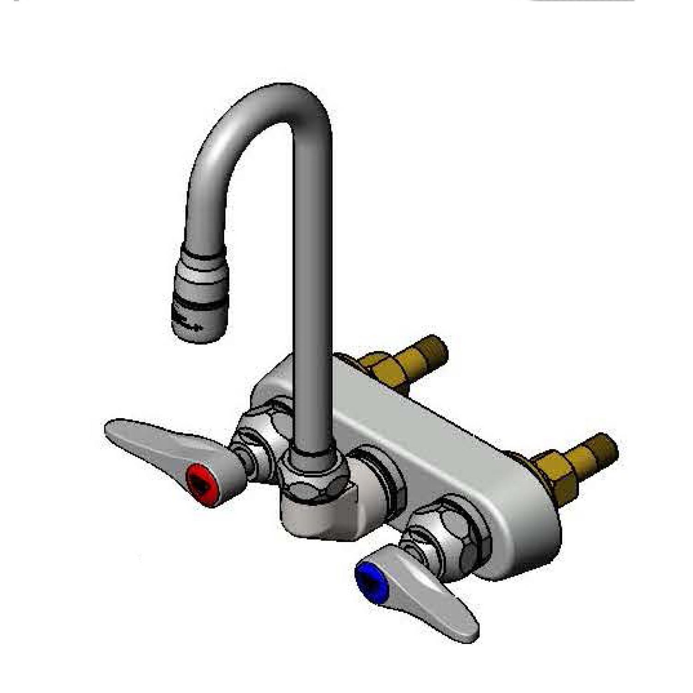 Workboard & Bar Sink Faucets: B-1115-132XN5QT - T&S Brass